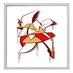 """Patrick Jungfleisch alias Reso: Serigraphie """"Dawn"""" 50 x 50 cm screen print Signed and numbered edition of 100."""