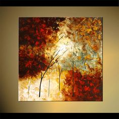 Original Landscape Abstract Painting Modern by OsnatFineArt
