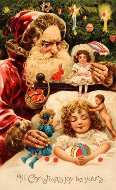 creepy christmas card collection http://mashable.com/2014/12/10/mean-santa-christmas-cards/