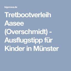 Tretbootverleih Aasee (Overschmidt) - Ausflugstipp für Kinder in Münster