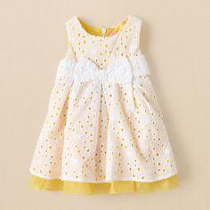 newborn - girls - daisy eyelet dress | Children's Clothing | Kids Clothes | The Children's Place