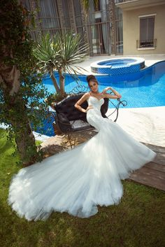 ' Introducing Galia Lahav 's modern, angelic interpretation of an Ethereal series of gowns. Bold and new, this e...