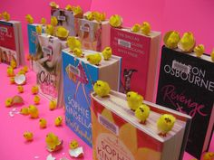 Spring idea.. crack open the chick lit! How adorable!! :)