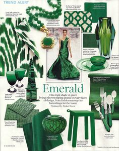 """So Pantone finally released the color of the year, 2013 - Emerald, a """"lively, radiant, lush green''. and what do I want in this green - ."""