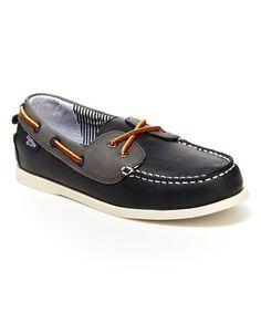 Loving this Navy Alex Boat Shoe on #zulily! #zulilyfinds