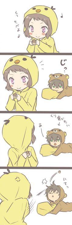 Mayaka & Oreki rilakkuma