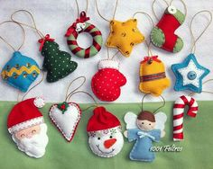 Christmas decoration models in felt - Christmas decoration models in felt - Felt Christmas Decorations, Felt Christmas Ornaments, Christmas Fun, Fabric Ornaments, Christmas Projects, Felt Crafts, Holiday Crafts, Navidad Diy, 242