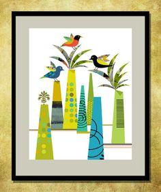 Bird Print Collection - contemporary - artwork - chicago - Studio Best Design. Bird Forest.