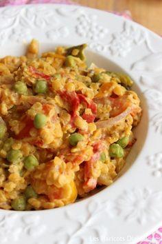 Curry de lentilles corail, poivrons et petits pois (4)