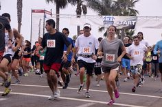 A 5K is the perfect way to start off the morning at Moonlight Beach