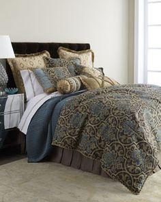 Blue Bedding, Blue Comforter Sets & Blue Bedding Sets | Horchow