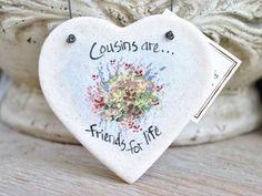 Cousin Gift Heart Ornament