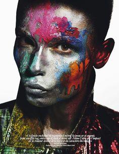 """""""Full Color""""  A super colorida Natasha Poly posou para as lentes do incrível fotógrafo Mario Sorrenti para a Vogue Paris, maio 2012."""