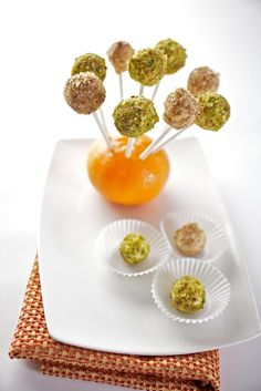 Goats Cheese Pebbles Canapes, Hors D'oeuvres, Addictive Chef Nicole Forster www.savouryfoods.ca Oeuvres, Cereal, Appetizers, Breakfast, Cake, Desserts, Food, Morning Coffee, Tailgate Desserts