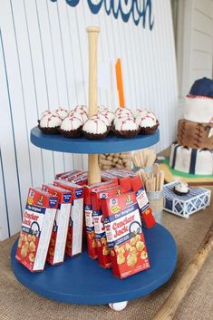 Fun treats at a baseball birthday party! See more party ideas at CatchMyParty.com!