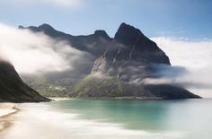 Kvalvika Beach Lofoten Norway. Most beautiful beach I have ever visited![OC] [3892x2564]   landscape Nature Photos