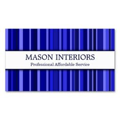 Professional Blue Interior Designer Business Card