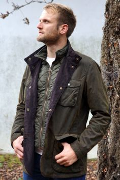 Barbour Ogston Mens Wax Jacket in Olive new from Smyths Country Sports Mens Wax Jackets, Fall Jackets, Winter Walk, Long Winter, Mens Fashion Suits, Mens Suits, Barbour Jacket Mens, Hard Wear, How To Wear
