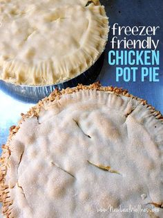 This is my family's absolute favorite recipe for chicken pot pie. Even my picky three-year-old and baby eat it! In fact, it's so delicious that I always prep two at a time. #MealPrepRecipes #ChickenPotPie #FreezerMeals Freezer Friendly Meals, Make Ahead Freezer Meals, Freezer Cooking, Freezer Recipes, Easy Recipes, Kraft Recipes, Oven Recipes, Quick Meals, Delicious Recipes