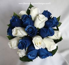 blue and white wedding flowers bridal flowers - Page 51 of 100 - Wedding Flowers & Bouquet Ideas Blue Rose Bouquet, Silk Bridal Bouquet, White Wedding Bouquets, White Wedding Flowers, Flower Bouquet Wedding, Blue Flowers, Purple Wedding, Small Bouquet, Purple Roses
