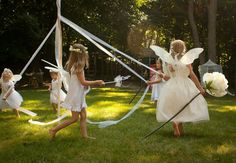 Fairies dancing around a maypole : ) #fairyparty