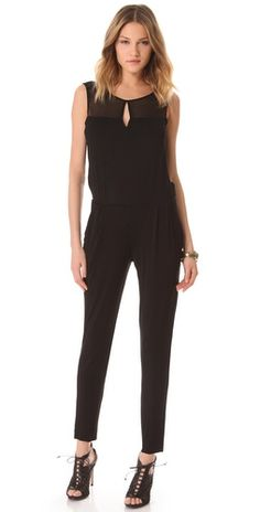$101.50 FREE SHIPPING at shopbop.com. Chiffon trim accents the bodice of this luxe Young Fabulous & Broke jumpsuit, while an open back and front keyhole subtly enhance the drama of the silhouette. Fabric: Soft jersey / chiffon. Shell: 92% modal/8% spandex. Trim: 100% viscose.