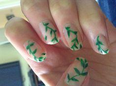 Poison Ivy nails by Jennifer Algarra