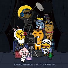Friends Gif, Line Friends, Kakao Friends, Friend Friendship, Presents For Friends, Kawaii Drawings, Cute Designs, Hello Kitty, Character Design