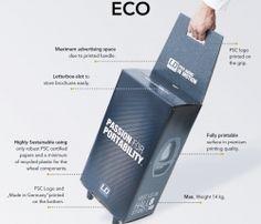 beurstrolley bedrukt van karton  893-ECO