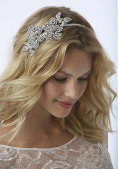 Straight Wedding Hair, slightly wavy with hairpiece