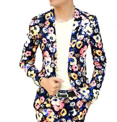 Bright Floral Designed Classic In-Style Blazer. #mens #luxury #fashion #BLAZER #BLAZERFORMEN #BLAZERfashion #menBLAZER #BLAZERTrend #pilaeo #officalBLAZER #travelBLAZER