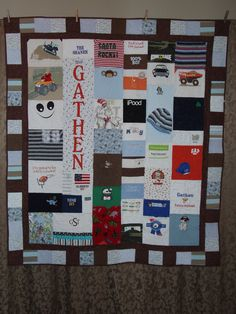 Throw size Quilt made from Baby clothes - CUSTOM ORDERS