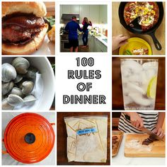 100 Rules of Dinner from Dinner, a Love Story