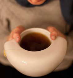 ToastyMUG Ceramic #Coffee/Tea #Mug - $95 oastyMUG is a ceramic coffee/tea mug designed by Sabrina Fossi. It is handmade to perfection by expert craftsmen in Montelupo, Italy. http://thegadgetflow.com/portfolio/toastymug-ceramic-coffeetea-mug/