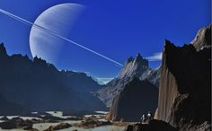 Fantasy Space Art –Saturn Moon Walk This image is one of...View Image