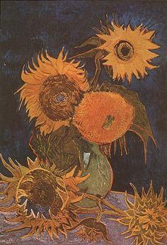 Van Gogh Vase with Six Sunflowers - Zonnebloemen (Van Gogh) - Wikipedia