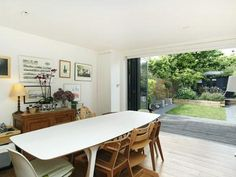 Nice table and odd chairs Side Return, Extension Ideas, Extensions, Sweet Home, Chairs, Dining Table, Doors, Nice, Google
