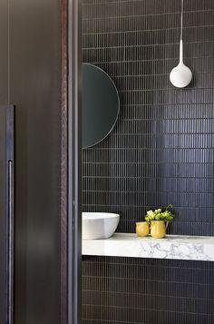 Emily Henderson bathroom trends 2019 home style 66217057008265759 Australian Interior Design, Interior Design Awards, Bathroom Interior Design, Beautiful Bathrooms, Modern Bathroom, Master Bathroom, Bathroom Sinks, Black Tile Bathrooms, Hotel Bathrooms