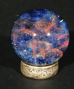 @scglassstudio Fine Art Glass Marble handmade in USA by Sean Clayton of SC Glass Studio, flameworked borosilicate glass marble, featuring gorgeous intricate detail of space, our galaxy, the universe! Take a moment to hold a glimpse of the universe in your hand, to be mindful, introspective, remember your sense of wonder and awe. A one of a kind, unique gift, perfect as coffee table decor, on your desk as office decor, a rare and exclusive work of art. #nebula Stained Glass Art, Mosaic Glass, Blown Glass Art, Marble Art, Glass Marbles, Glass Paperweights, Texture Art, Hanging Art, Sculpture Art