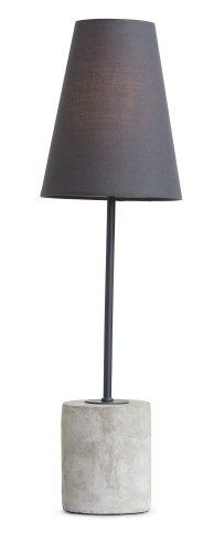 The Ira Table Lamp in Harrier Grey and Concrete. The perfect tough-luxe industrial style. £59 | MADE.COM