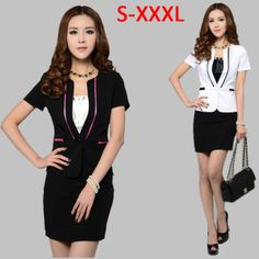 Women Business Suit Formal Office Ladies Clothes Uniform Suits for Women Sets Elegant Female Work Wear 2014 Fashion Jacket Skirt
