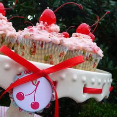 Chunky Cherry Cupcakes Recipe | Belly Feathers :: Handmade Party Ideas Blog by Betsy Pruitt