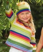 Child's Sweater and Hat with Stripes, 6657 - Free Pattern