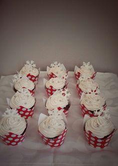 Christmas Chocolate Strawberry Cupcakes - Gluten Free