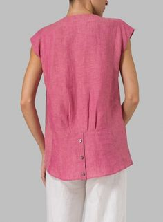 MISSY Clothing - Linen Straight Stick-shaped Top