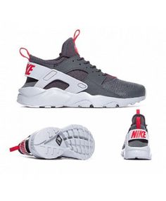 official photos aad09 a55f7 Chaussure Nike Huarache Run Ultra Anthracite Loup Gris GYM Rouge
