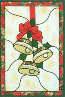 stained glass christmas patterns | Bells Stained Glass Christmas Quilt Pattern by Lovenest Designs