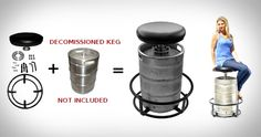 DIY Beer Keg Bar Stools | Keg Stool