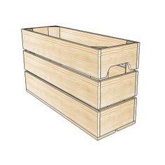 Caisse en bois 1/2 Haut