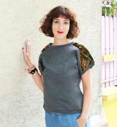 """Sweat-shirt """"le canevas de Violette"""" de Adaoz sur DaWanda.com"""